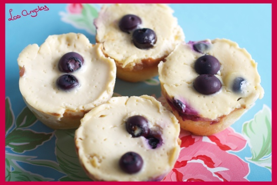 Blueberry Lemon Cheesecakes - Copyright LosAngelas