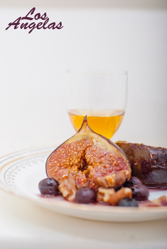 Figs berries, walnuts and honey