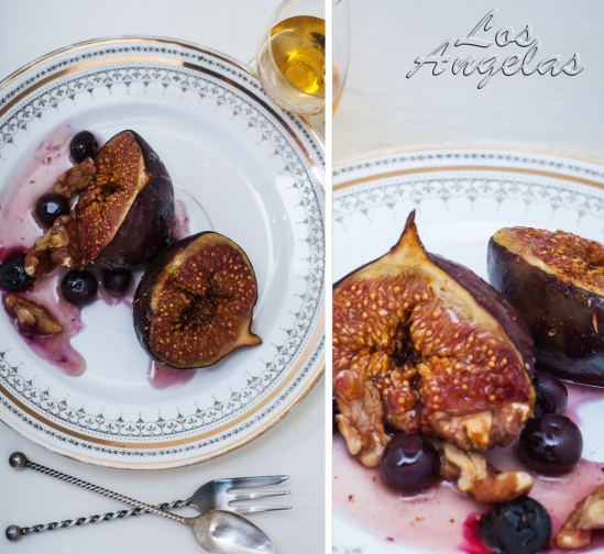Figs with berries, walnuts and honey 4