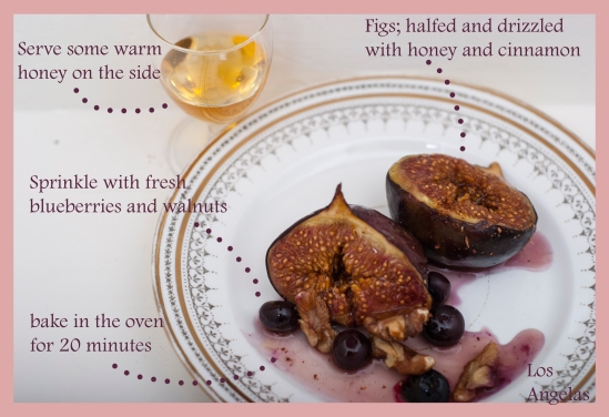 Figs with berries, walnuts and honey 6