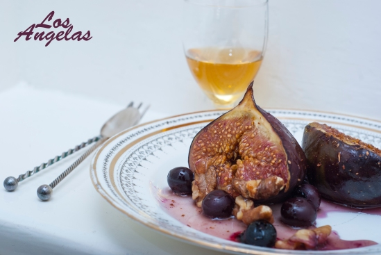figs with berries, walnuts and honey 8
